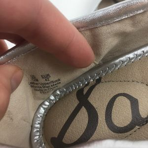 Sam Edelman Shoes - Sam Edelman Felicia bow ballet flat silver NEW